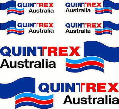 AU45 • Buy Quintrex Mirrored Four Colour Set, Fishing Boat Stickers Decals
