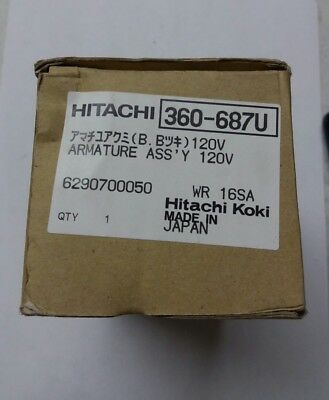 Hitachi 360-687u Armature Assy 120v For Impact Wrench  • 104.91£