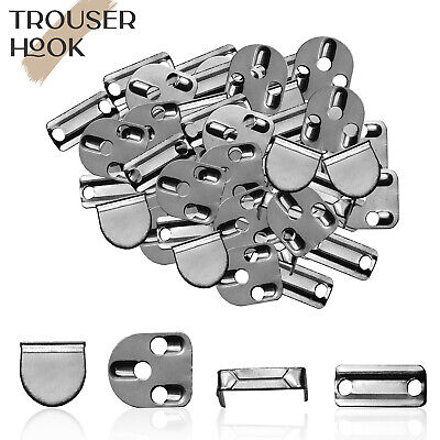 £3.69 • Buy 10pcs 11mm Silver Hook And Bar Eye Fastener For Trousers Skirts Waistband Repair