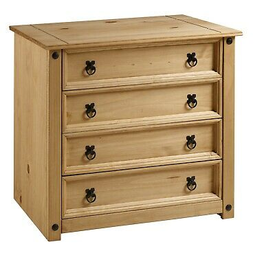 Corona Chest Of Drawers Rustic 4 Drawer Mexican Solid Pine By Mercers Furniture® • 67.99£