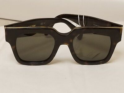 4f8fa9c24bd11 Celine CL 41097 S Sunglasses Glasses Color 0Z06 Dark Havana Gold Hardware  NEW • 299.99