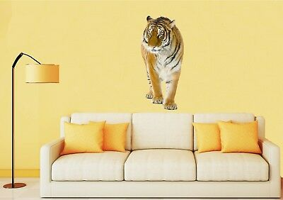 WALKING TIGER Wall Art Quality Vinyl Stickers Decals - 4 X Sizes (UK Seller) • 8.50£