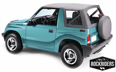 AU167.90 • Buy 88-94 Suzuki Sidekick Geo Tracker Vitara Soft Top With Clear Windows Black 98715