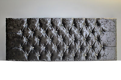 3ft Single Luxury Chenille Fabric Chesterfield Headboard • 27.99£