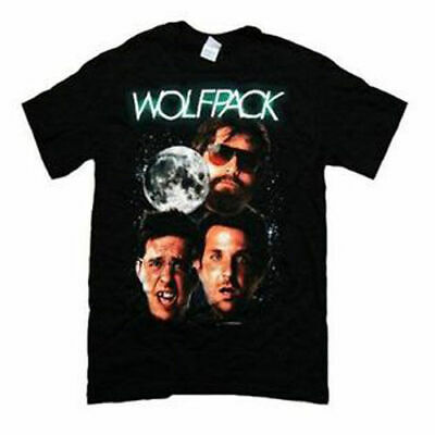 Adult Black Comedy Movie The Hangover Wolfpack Wolf Friends Group T-shirt Tee • 13.88£