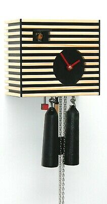 AU753.67 • Buy Modern Cuckoo Clock Bauhaus Design, Black, 8 Day RH CS34-2 NEW
