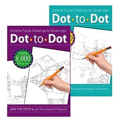 2 X EXTREME ADULT DOT TO DOT PUZZLE  BOOKS CHALLENGING PUZZLES • 4.27£