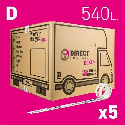5 Strong Extra Large Cardboard Storage Packing Moving House Boxes Double Walled • 16.99£