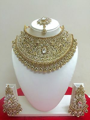 $27.29 • Buy Indian Bollywood Style Gold Plated Fashion Bridal Jewelry Necklace Set