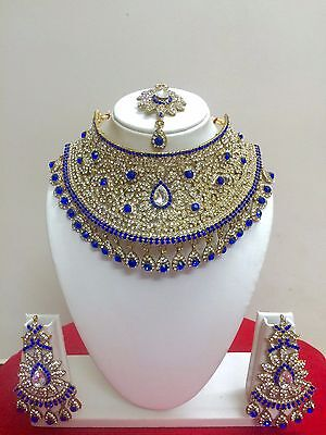 $27.29 • Buy Indian Bollywood Style Gold Plated Bridal Fashion Jewelry Necklace Set