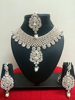 $48.74 • Buy Indian Bollywood Gold Plated Fashionable Bridal Jewelry Necklace Set