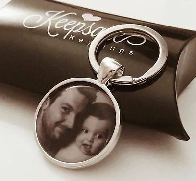 Personalised Custom Photo Keyring Chain Birthday Christmas Present Gift Box • 4.35£