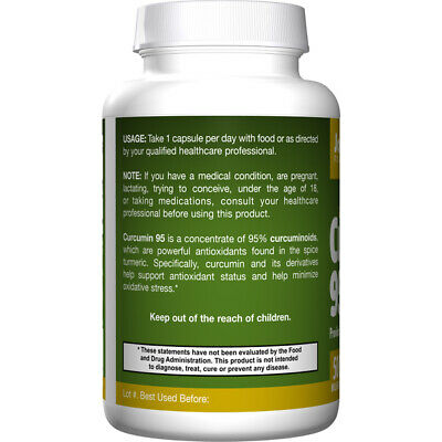 Curcumin 95, 500mg X 60VCaps, Anti-inflammatory, Joints, Jarrow Formulas • 25.18£