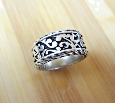 $139.97 • Buy Mens Ring Bali Solid Sterling Silver 925 Size 9 10 11 Cable Cigar Band Designer