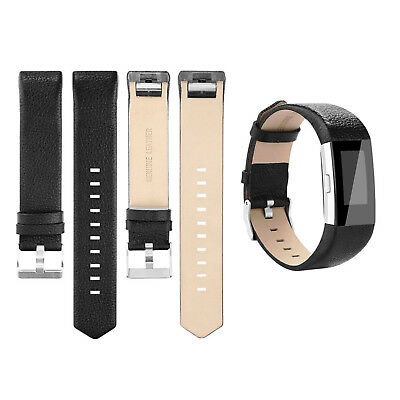 AU13.99 • Buy Genuine Leather Wrist Watch Band Strap Replacement For Fitbit Charge 2 Wristband