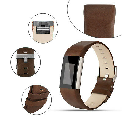 AU13.89 • Buy Wrist Watch Band Genuine Leather Strap Replacement For Fitbit Charge 2 Wristband