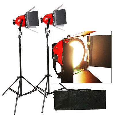 Kit 2x Tungsten 800w Redhead Red Head Video Studio Light Focus Earthed Pro • 74.23£
