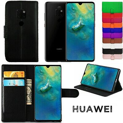 Leather Wallet Book Case For Huawei P8, P10 Lite ,P20 Pro, P20 Lite, 2018 2017 • 3.49£