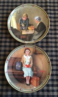 $ CDN25.11 • Buy Norman Rockwell ~ Rockwell's American Dream Set Of 2 Collector Plates