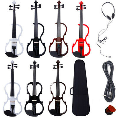 $36.89 • Buy New 4/4 Size 5 Style Electric Silent Violin Fiddle Set