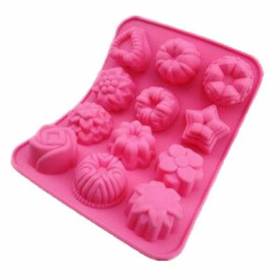 12 Silicone Flower Soap Cake Bread Mold Chocolate Jelly Baking Mould Muffin Tray • 1.90£