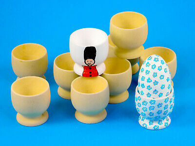 £2.90 • Buy Plain Wooden Egg Cup Cups 100% Natural Wood Easter Crafts Wedding Favours