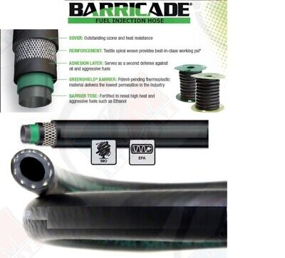$10.95 • Buy GATES 27342 Barricade 1/2  ID (12.7mm) Fuel Injection Hose (MPI) 12  Inches