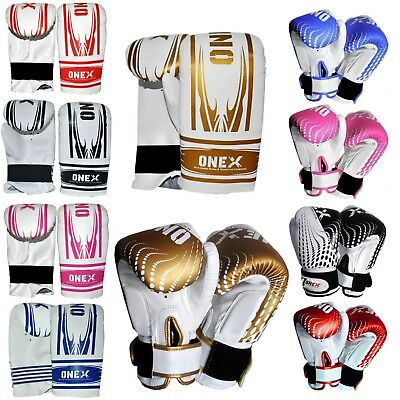 ONEX Mad Boxing Sparring Gloves Gym Traning Boxing Execise Gloves And Mitts • 8.91£
