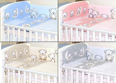 £22.99 • Buy TEDDY PATTERN Baby Bedding Set Fit Cot 120x60cm Or Cot Bed 140x70 -BABY GIRL BOY