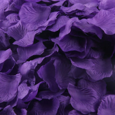 £3.99 • Buy Cadbury Purple Silk Rose Petals Flower Table Decoration Confetti Wedding Party