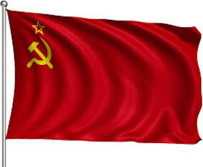 Giant USSR Soviet Union Communist Russian Labour Socialist Red National Flag • 4.99£