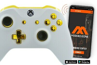 $139.95 • Buy White/Gold Xbox One S / X Rapid Fire Modded Controller For COD WW2 Destiny 2