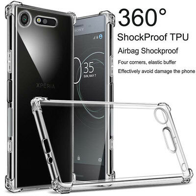 AU4.35 • Buy For Sony Xperia X XP XZ XZ1 XA XA1 L2 Clear Shockproof 360° Slim TPU Cover Case