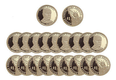 $98.95 • Buy 2013 S William McKinley Presidential Dollar Deep Cameo PROOF 20 Coin ROLL