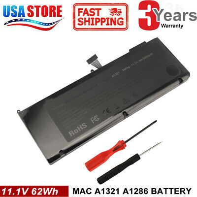 $23.99 • Buy A1321 Battery For Apple MacBook Pro 15  A1286 Mid 2009 (Early/Late 2010) GOOD