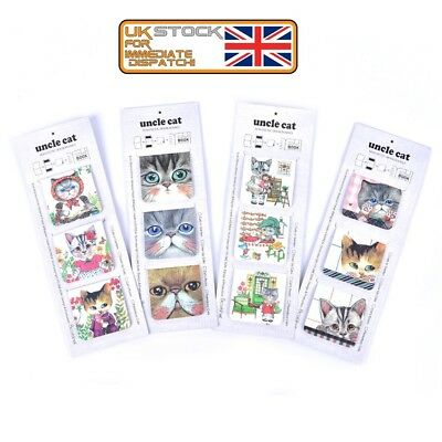 £2.79 • Buy 3Pcs/Pack Cats Magnet Bookmark Paper Clip School Office Supply Gift StationeryJX
