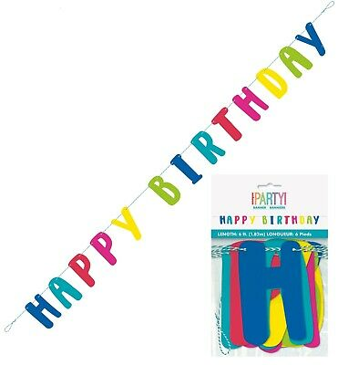 AU7.49 • Buy Happy Birthday Banner Cutout LLAMA Mexican Party Decoration 1.8M Garland Rainbow