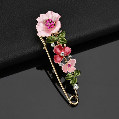 Diamante Wedding Flower Safety Pin Brooch Boutonnière Suit Lapel Pins UK Seller • 4.50£