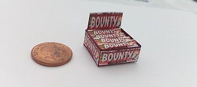 1/12 Scale - Box Of (Red) Bounty Bars Sweets For Dollshouse Miniatures • 2£
