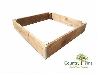 Square Raised Garden Bed - Treated Timber Extra Large | 8 Natural Colours • 37.95£