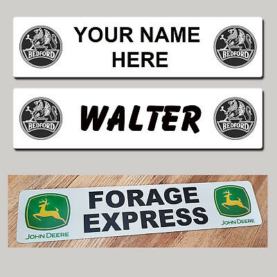 £11.49 • Buy BEDFORD Lorry HGV Truck Trucker CAB SHOW NAME PLATES Name Classic Sign