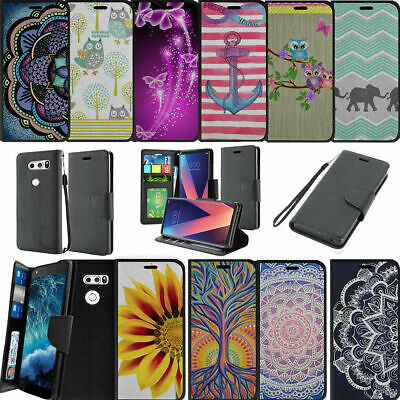 AU14.62 • Buy For LG V30 (2017) Case For Women Wallet Card & Kickstand Case With Magnetic Snap