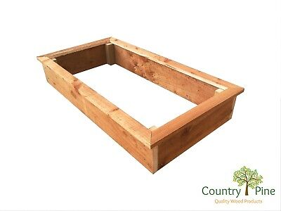 Rectangle Self Assemble Raised Garden Beds - Treated Timber 8 Wood Stain Colours • 46.95£