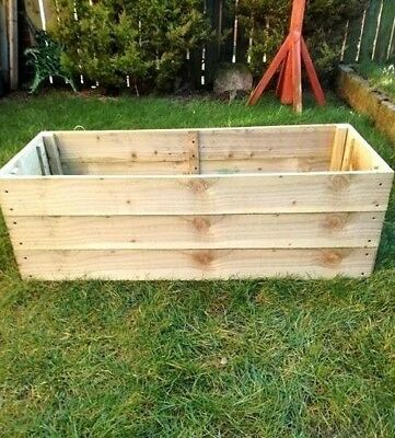38 Cm High Raised Bed Wooden Garden Planter, Vegetables, Seeds, Bedding, Herbs • 42£