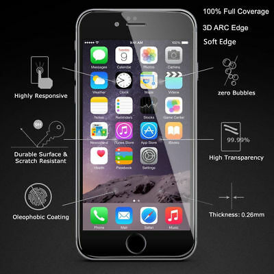 AU3.61 • Buy Apple IPhone 6s 6 Plus Transparent Full Coverage Tempered Glass Screen Protector
