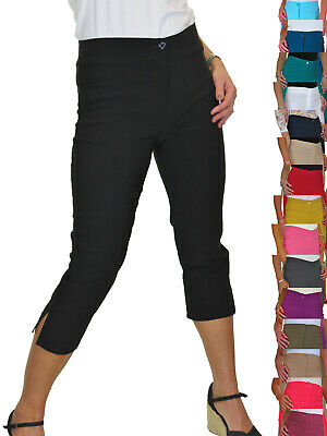 £17.99 • Buy ICE Womens High Waist Skinny Stretch Pedal Pushers Cropped Trousers 8-22