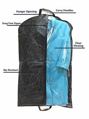 £3.99 • Buy Garment Bags Dress Clothes Suit Carry Travel Handle Carriers Covers Protector