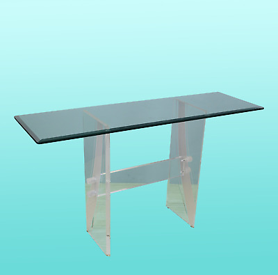 $845 • Buy Vintage Lucite Console Table - Vintage Console- Mid Century Acrylic Console