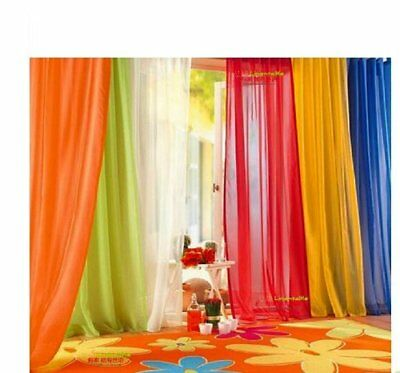 $4.24 • Buy Elegant Solid Sheer Panel Window Curtain - All Sizes - All Colors - 1 Panel