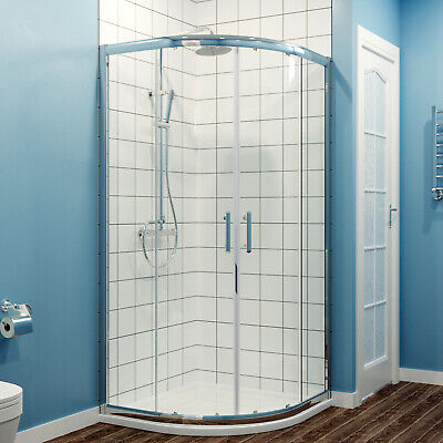 Offset Walk In Quadrant Shower Enclosure And Tray Corner Entry Stylish Cubicle  • 108.99£